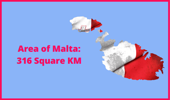 Area of Malta compared to Norway