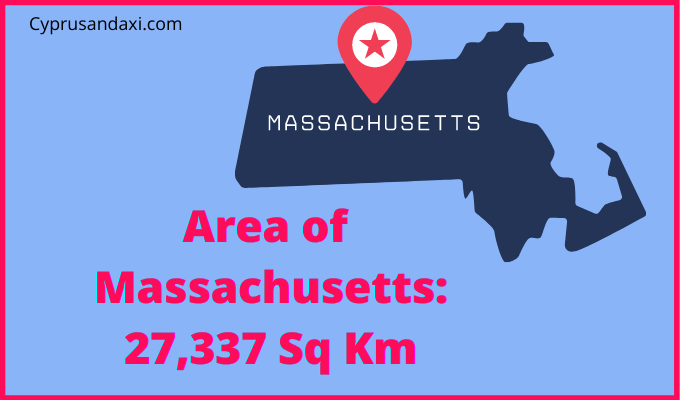 Area of Massachusetts compared to the UK