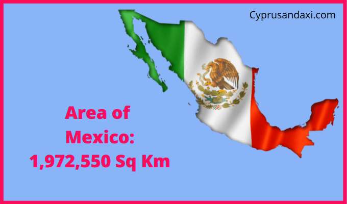 Area of Mexico compared to the UK