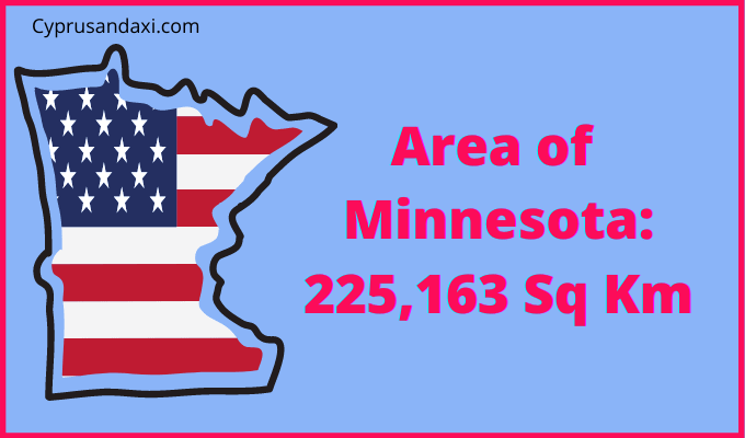 Area of Minnesota compared to the UK