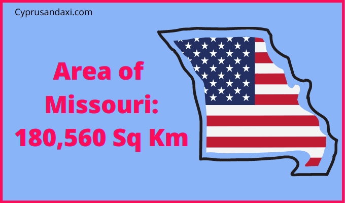 Area of Missouri compared to the UK