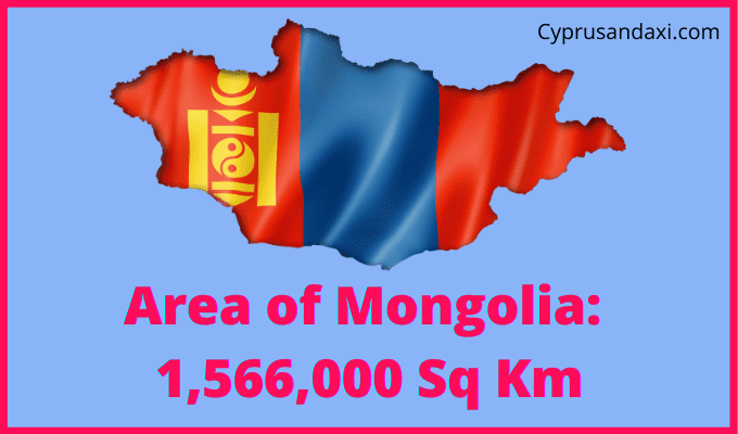 Area of Mongolia compared to the UK