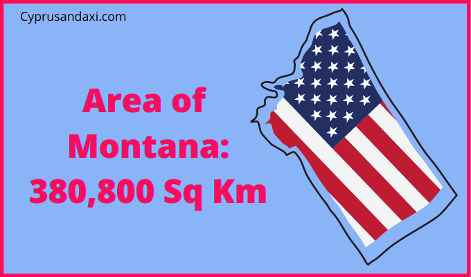 Area of Montana compared to the UK