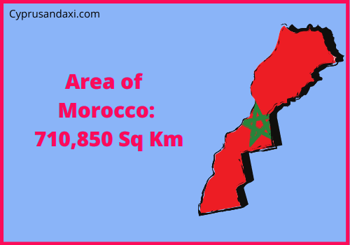 Area of Morocco compared to the UK