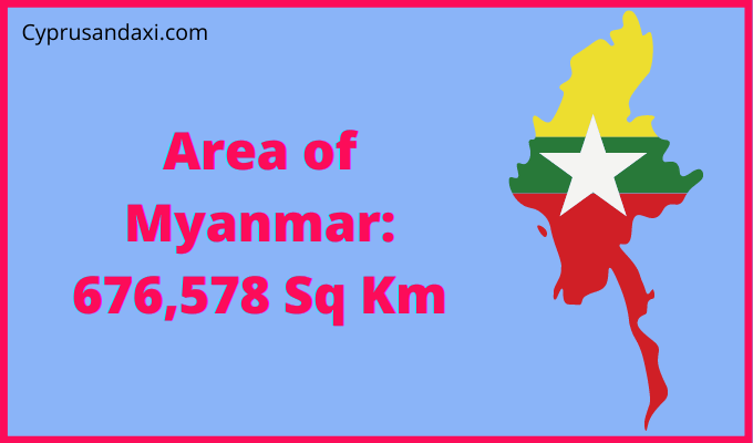 Area of Myanmar compared to the UK