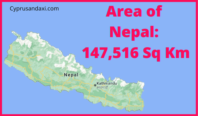 Area of Nepal compared to the UK