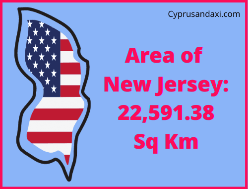 Area of New Jersey compared to Canada