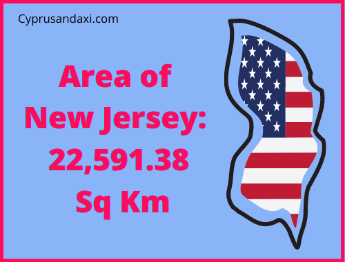 Area of New Jersey compared to England