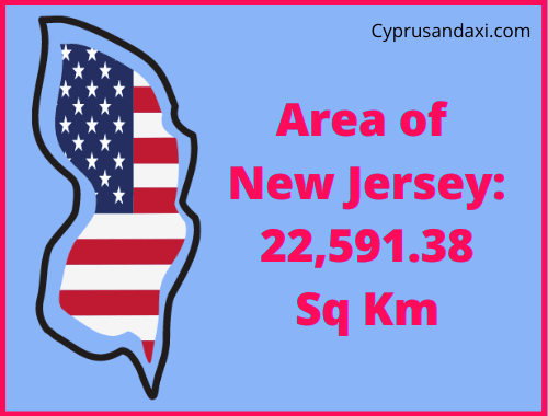 Area of New Jersey compared to Wales