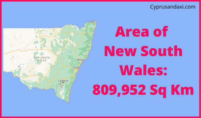 Area of New South Wales compared to England