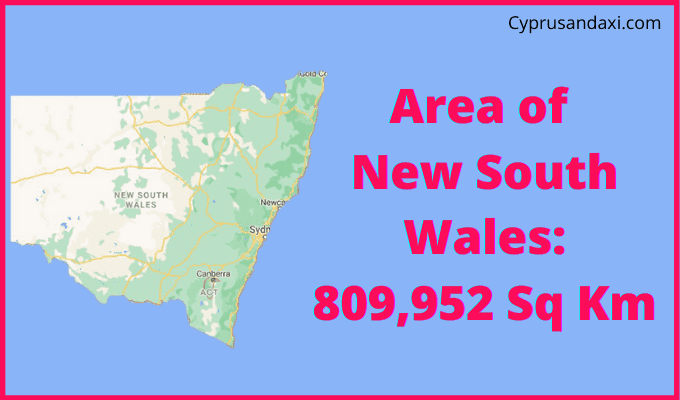 Area of New South Wales compared to Wales