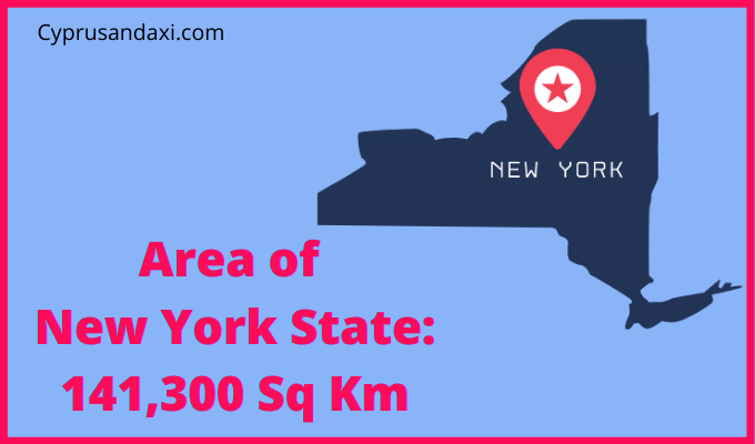 Area of New York State compared to Malta