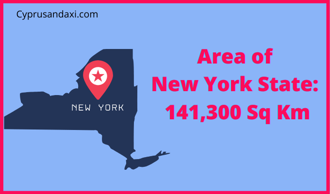 Area of New York State compared to the UK