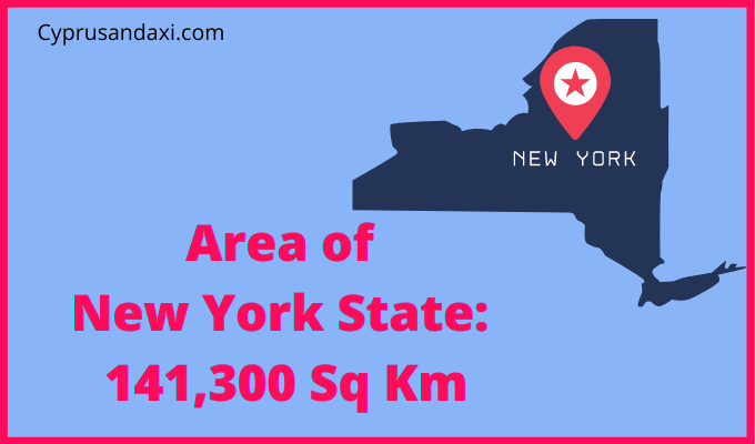 Area of New York State of the USA compared to Northern Ireland