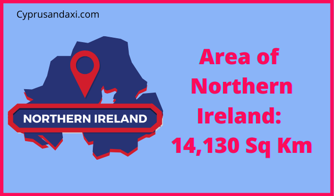 Area of Northern Ireland compared to Belarus