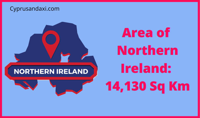 Area of Northern Ireland compared to Bosnia and Herzegovina