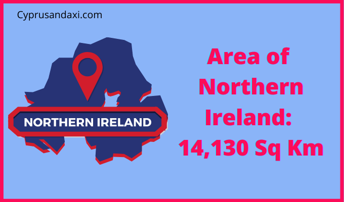 Area of Northern Ireland compared to China