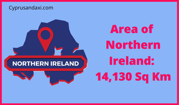 Area of Northern Ireland compared to Connecticut