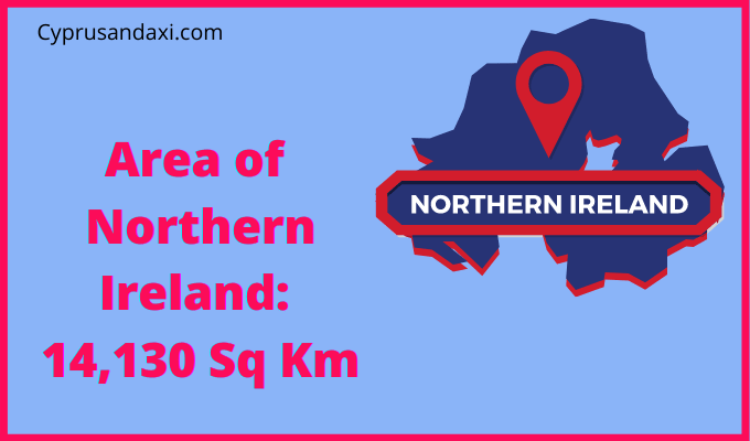 Area of Northern Ireland compared to Dublin