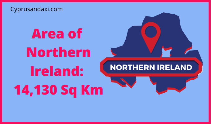 Area of Northern Ireland compared to France