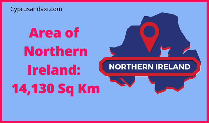 Area of Northern Ireland compared to Jamaica