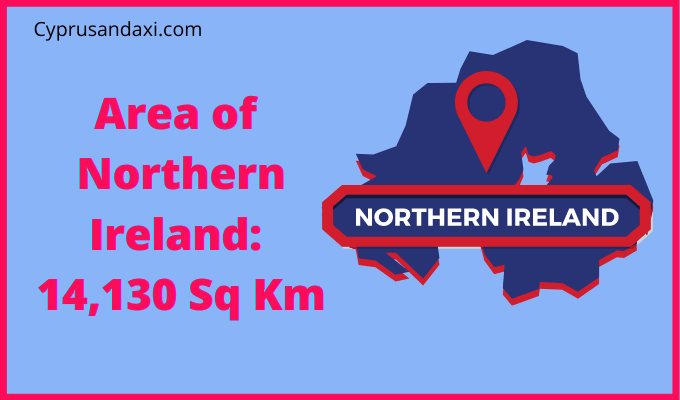 Area of Northern Ireland compared to Kentucky
