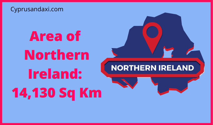 Area of Northern Ireland compared to London