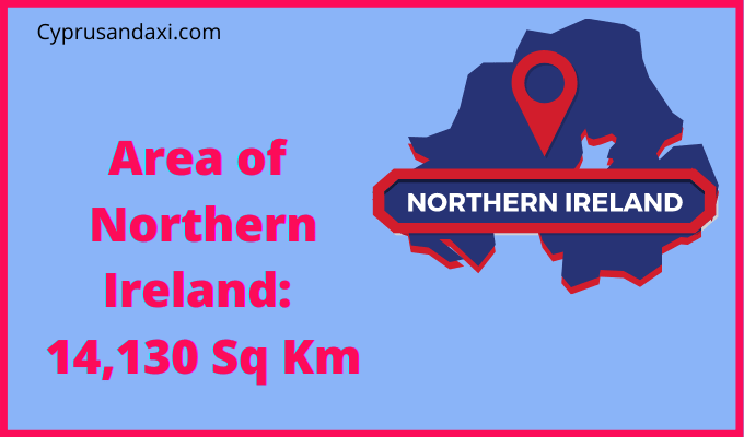 Area of Northern Ireland compared to New England