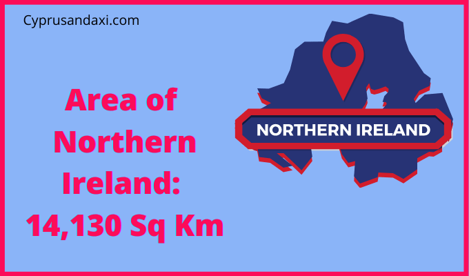 Area of Northern Ireland compared to Norway