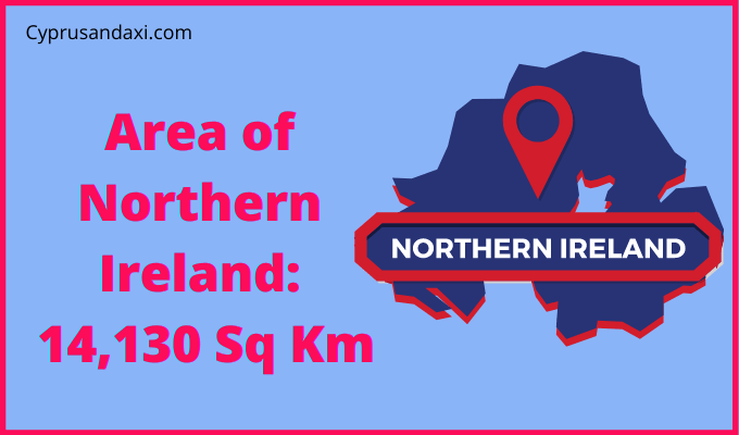 Area of Northern Ireland compared to Scotland