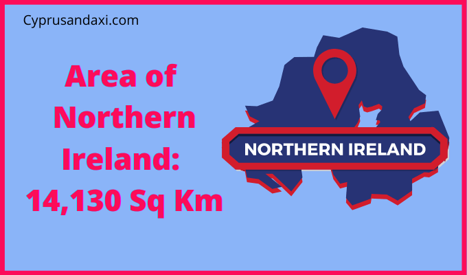 Area of Northern Ireland compared to South Korea