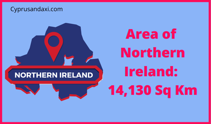 Area of Northern Ireland compared to Southern Ireland