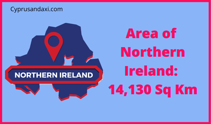 Area of Northern Ireland compared to Venice