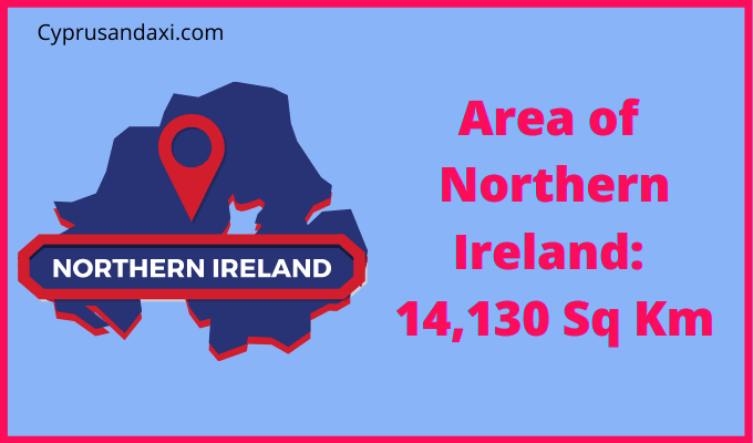 Area of Northern Ireland compared to Vermont