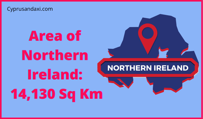 Area of Northern Ireland compared to Wales