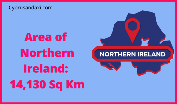 Area of Northern Ireland compared to Wisconsin