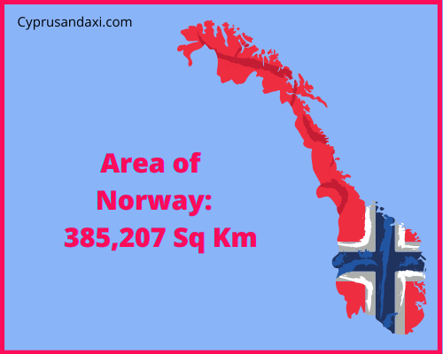 Area of Norway compared to Northern Ireland