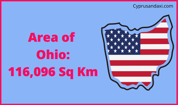 Area of Ohio compared to Scotland