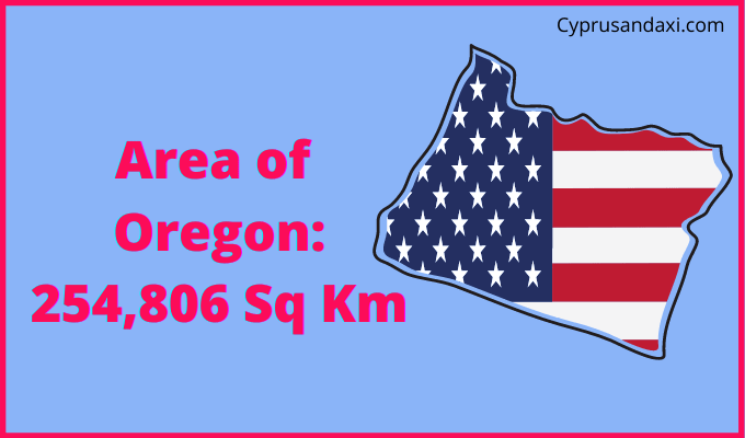 Area of Oregon compared to the UK