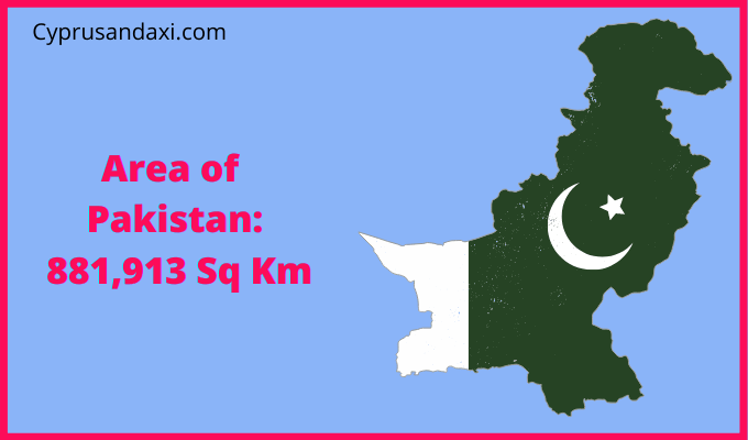 Area of Pakistan compared to the UK