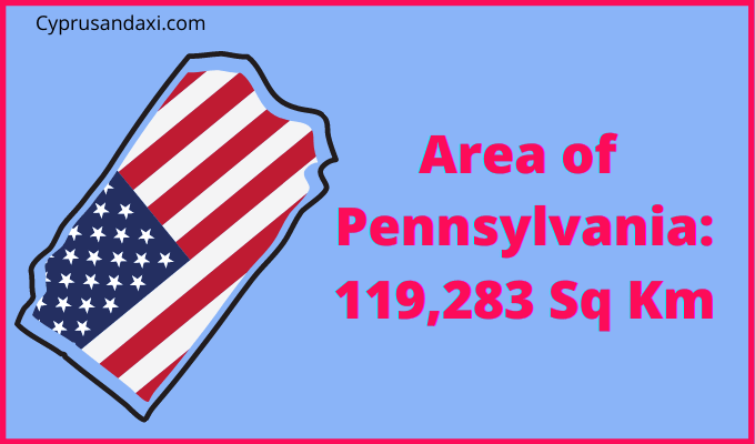 Area of Pennsylvania compared to the UK