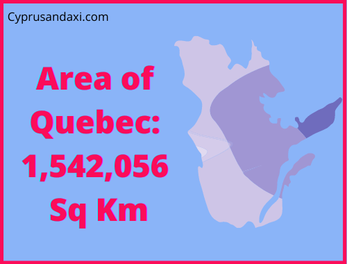 Area of Quebec compared to England