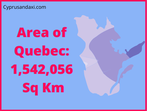 Area of Quebec compared to Northern Ireland