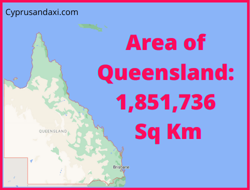 Area of Queensland compared to Scotland