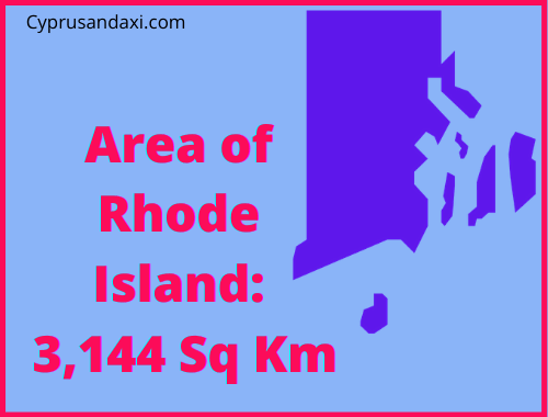Area of Rhode Island compared to England