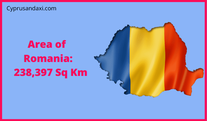 Area of Romania compared to the UK