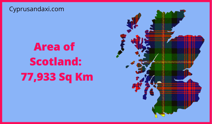 Area of Scotland compared to Hong Kong
