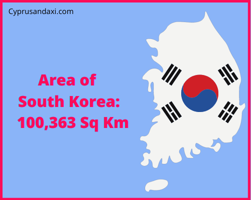 Area of South Korea compared to Northern Ireland