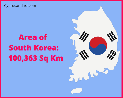 Area of South Korea compared to Wales