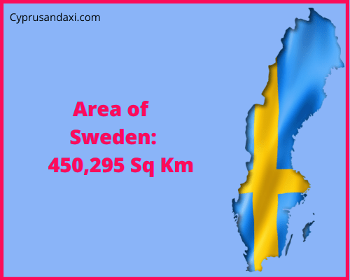 Area of Sweden compared to England